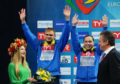 Накиевском чемпионате Европы попрыжкам вводу украинец завоевал золотую медаль