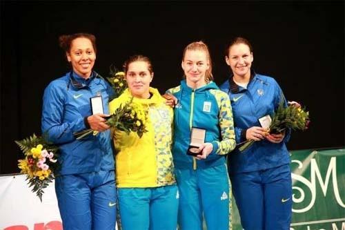 Украинка завоевала серебро наэтапе Кубка мира пофехтованию