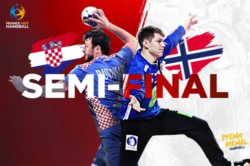 2017 погандболу. ½ финала. Хорватия— Норвегия (прямая видеотрансляция)